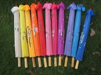 bamboo umbrella frames - hand painted flower design colors Chinese art umbrella bamboo frame silk parasol for bride amp