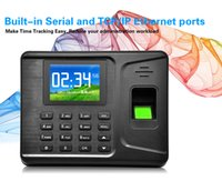 Wholesale 2 inches TFT Screen TCP IP USB Password ID card biometric scanner fingerprint time attendance machine with users