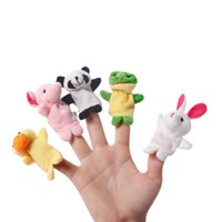 Wholesale 10pcs Funny Kids Activity Child Baby toys Cloth Finger puppets Lovely cartoon animal Finger toys