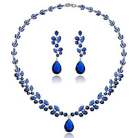 american luxury furniture - Mobilier De Jardin Wicker Furniture High end Temperament Zircon Pendant Earrings Spring And Had The Luxury Jewelry Set Classic Blue