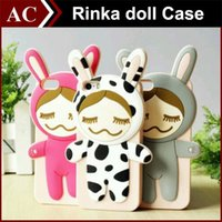 Cheap 3D Cartoon Case Rinka Doll Fairy Tales Cartoon Figure Soft Silicone Gel Rubber Back Shell for iPhone 5 5s 6 4.7 inch Free DHL Shipping