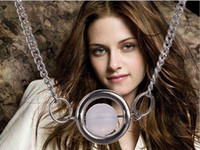 bella twilight vampire - Argent alloy moive Twilight Bella Moonstone Vampire Circle copy opal pendant necklace for women girls fashion Hot x050