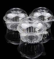 bakery container - 100pcs Clear Single Cupcake Cake Container Plastic Bakery Gift Box CH5050401