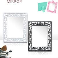 Wholesale Portable Vintage Vine Desktop Mirror Cosmetic Folding Wall Mirrors Random Color CM