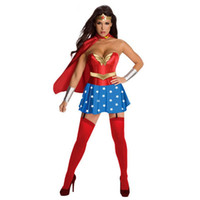 adult costumes cartoon characters - Ulike fashion clothes NEW Halloween women dress Wonder Woman Cosplay dress adult sexy dress cartoon character costumes clothing