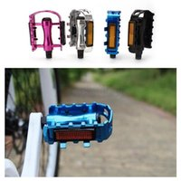 Wholesale BMX Pair quot Mountain Road Bike Bicycle Pedals Flat Multi color Aluminum Alloy MTB Cycling Pedals Platform With Gear wheel