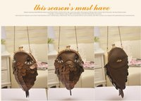 Wholesale 2015 new leather bags carp bag street personality handmade Messenger Bag small chain shoulder bag Diamond