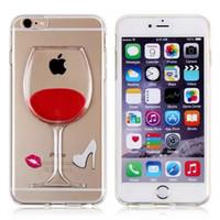 iphone 5 accessories - Red wine lip d liquid cell phone case for mobile phone accessory for iphone s plus