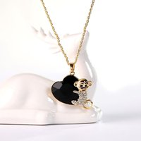 Wholesale Factory Heart fishing monkey Zodiac Europe crystal pendant retro sweater chain of high end Korean jewelry long necklac