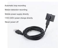 Wholesale FHD P SPY Button Camera MINI DV Hidden Camera Video Recorder Camcorder Loop Recording With Adapter Power Supply Directly