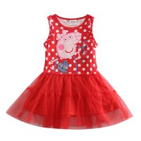 Wholesale Girl Tutu Dress Nova Summer Girls Party Dress Children Princess Dress for Kids Girl Lace Girls cotton Dress H4416