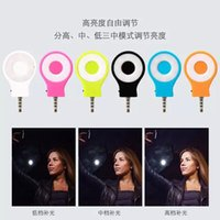 Wholesale The Latest RK07 Built in led lights iblazr LED FLASH for Camera Mobile phone support selfie stick portable LED Retina Flash Light