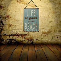beach bar pictures - 2015 New Tin Sheet Metal Sign BEACH Decor Bar Tavern Garage Vintage Picture LD093 Decor Home Wall Decor Garage home Wall Decor order lt no t
