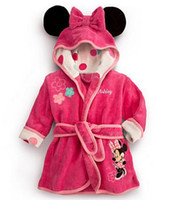 Wholesale 2016 Mickey Minnie Mermaid Towels Robes baby clothing Pajama Lingerie Sleepwear Bath Gown pjs Nightgown kids clothes