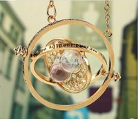 turner - gold hourglass harry potter time turner necklace hermione granger Rotating Spins harry potter hourglass necklace Statement Necklace in stock