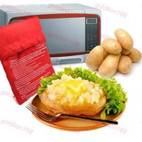Wholesale retail box Microwave Baked Potato Cooking Bag Christmas Dinner Cooking Tools Steam Pocket In Minutes Easy Cooking Potato Bag free shiping