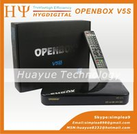 Wholesale original Openbox V5S HD p Pvr Satellite Receiver support usb wifi youtube youporn europe fedex