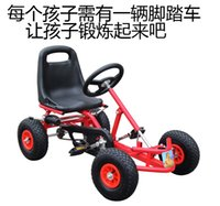Wholesale Genuine factory promotion foreign trade children bicycle four round pedal kart fitness car stroller custom