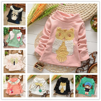 baby clearance clothing - Clearance baby clothing Bottoming shirt sweater kids Hoodies Sweatshirts thick styles hoodies Multi styles V540