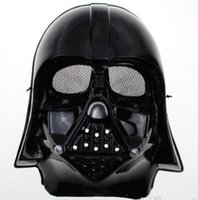 Wholesale New Arrive Halloween Festival horror mask Star Wars the Darth vader mask black and white color