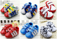 Wholesale Double Velcro baby soft soled shoes PU spring autumn boy toddler shoes children fashion sports shoes pair B3