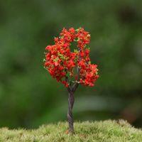 Cheap diy material mini fake tree terrarium decoration fairy garden gnome hoticulture plant bonsai plastic crafts