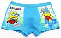 Wholesale Chilren underwear childrenbriefs boxers cartoon minions printing boxers boys boxers boys underwear boys short Despicable ME Movie boxers