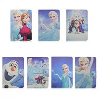 Wholesale Elsa and Anna Flip PU Leather shell case suitable for quot inch tablet pc