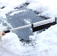 alloy snow shovel - Windshield Snow Shovel Brush Aluminum Alloy Retractable Rod Telescopic Adjustable Scraper Winter Auto Car Vehicle Ice Removing Shovels