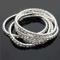 Wholesale 2016 New More rows Tennis Bracelet women Multilayer Bracelets Rows Crystal Rhinestone Bracelet for Wedding gift