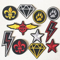 iron on patches for kids - 12 random styles embroidered fabric Iron on Sew on cartoon sticker patches badges for kids clothing