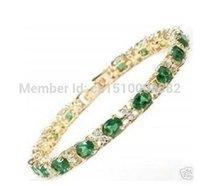 beautiful braclet - shitou super beautiful gold filled green jade braclet
