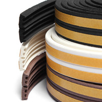 Wholesale 5M E Type Rubber Foam Draught Self Adhesive Window Door Excluder Seal Strip Tape