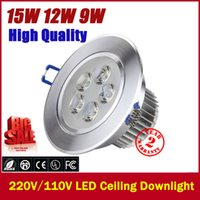 Wholesale LED Ceiling Downlight W X3W W X3W W X3W LED Recessed Cabinet Wall Spot light Down Lamp Cold White Warm White