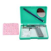 Wholesale New set Professional Stainless Steel Ear Nose Navel Body Piercing Gun Studs Tool Kit Set B2C Shop