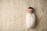 adorable baby costumes - Baby Infants Outfits Crochet Knit Clothing Sleeping Bags With Headband Baby Photography Props Costumes Cute Adorable DB