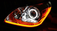 Wholesale LJP851 HOT Car LED Headlamps Modified Atmosphere Silicone Light Guide Lamp Lights Eyebrow Lights of Tears Long CM