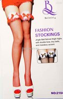 women silk socks - Hot ultrathin tight high mesh stockings red sexy silk stocking with bowings