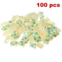adhesive plastic clips - 100 White Plastic Wire Tie Rectangle Cable Mount Clip Clamp Self adhesive