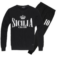 beckham set - new free Beckham men s sport sets SICILIA CALCIO letters printed men s hoodies sport sets color black grey navy