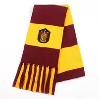Wholesale Harry Potter Scarf Scarves Knit lace Gryffindor Hufflepuff Cosplay Scarf Wrap Striped Magic School Costume Gift Scarves