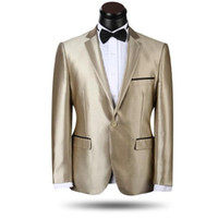 best mens dress clothes - NEW Gold Best Man Slim Groom Tuxedos Mens Wedding Dress Prom Clothing Best man Suit One Button Jacket Pants Tie man suit fashion trend