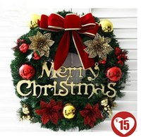 Wholesale 2015 Flowers Wreaths Popular Charming Decorative For Hotels And Mall Or Market Four Different Colors Beautiful Christmas Accessories CQX