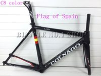 Wholesale 2015 COLNAGO C60 Flag of Spain ITALIA Tour de France carbon road bike frame bicycle racing Complete frameset look time fuji Canyon Merida
