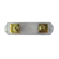 auto distribution - Hot Selling Transparent Gold Plated Auto Car GA ANL Fuse Holder Distribution INLINE Car Audio Accessories