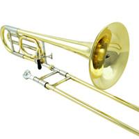Wholesale JAZZOR JZTB M320 Tenor trombone professional B flat F brass wind instruments trombone mouthpiece case