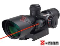 laser sight - 2 X40 Red Green Dot illuminated Reticle Rifle Scope Laser Sight Telescopic With Adjustable Mount
