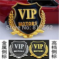 auto parts sticker lot - 2Pcs VIP car stickers car window door car flag stick side mark of auto parts metal wheat VIP car stickers