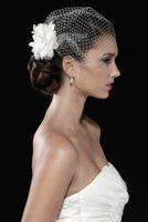 Wholesale Wedding Veils Handmade Vintage White Flower Bridal Veil Beaded Birdcage Veil Headpiece Head Veil Wedding Bridal Accessories Wedding