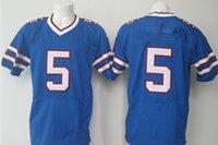 blue buffalo - 2015 Football Jerseys New Buffalo Jerseys Jersey Blue White New QB Size Stitched Mix Match Order All JERSEY